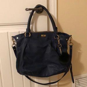 J. Crew Dark Blue Leather purse